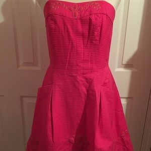 Lilly Pulitzer Pink strapless dress